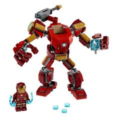 LEGO Marvel Avengers Iron Man Mech 76140 Kids' Superhero Mech Figure, Building Toy with Iron Man Mech and Minifigure, New 2020 Pieces) Lego Robot, Lego Mecha, Lego Duplo, Lego Ninjago, Robots, Lego Man, Lego Toys, Lego Marvel's Avengers, Marvel Avengers Movies