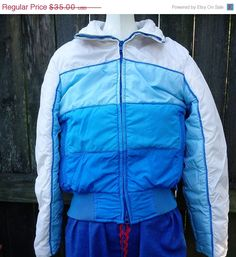 bcc1172359 Womens 80s Ski Jacket by Skyr in 4 Shades of Blue Estimated Size XS 80s  jacket vintage jacket