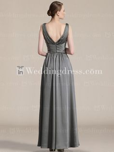 Elegant Mother of the Bride Dress_Charcoal