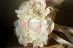 A beautiful Bouquet of Pinks and Ivory. $275.00, via Etsy.