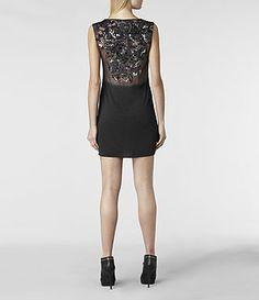 Womens Ivy Vest Dress (Graphite) | ALLSAINTS.com