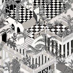 Заблудитесь в лабиринтах узких улиц и насладитесь очарованием угловатых домишек. В черно-белом цвете.  #подборка