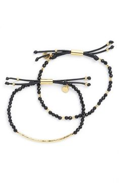 Not only are these black and gold Gorjana bracelets super trendy, but the semiprecious stones hold a symbolic meaning. This special NSale piece would make for a meaningful gift for a loved one.