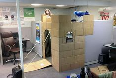 Not exactly organizing, but definitely keeping it fun! Office Cubicle Converted Into A Castle #IncredibleThings