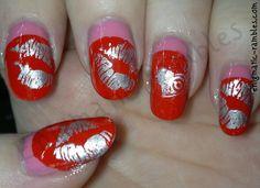 Kiss Kiss Valentines Day Nails Enigmatic Rambles