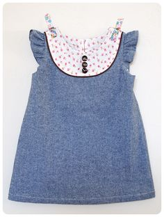KCW: Roses & Chambray Dress - could use geranium dress pattern?