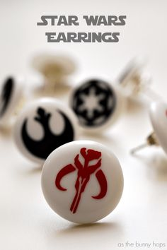 Star Wars Earrings  - interesting use of Perler Biggie beads and the Silhouette Cameo cutting machine. This DIY homemade earrings tutorial is perfect for fans of The Force Awakens!