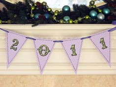 New Year's Banner, New Years Crafts
