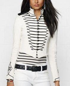 Ralph Lauren - Denim & Supply Embroidered Cropped Military Jacket (worn by Riley Matthews on Girl Meets World)