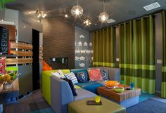 Teenage Video Lounge - eclectic - kids - san diego - by Kropat Interior Design