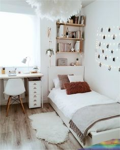Teen Room Decor - Choose Furniture That Is Cheerful For Your Teen Room Ideas Bedroom, Small Room Bedroom, Home Decor Bedroom, Diy Bedroom, Bedroom Inspo, Bedroom Storage Ideas For Clothes, Teen Room Decor, Bedroom Ideas For Small Rooms Women, Girls Bedroom