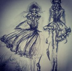 A blur of inspiration. Submitted by @burcuillustration. (Instagram: marchesafashion)