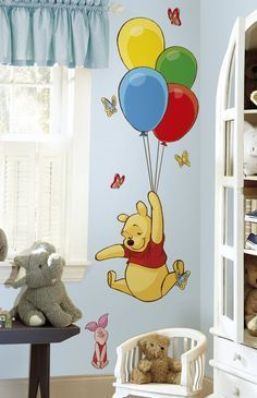 Winnie The Pooh And Piglet Giant Wall Decal Colorful Kids Room Winnie The Pooh Decor Winnie The Pooh Nursery