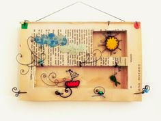book art with wire accents