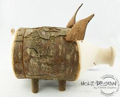 Piggy bank Wooden Piggy Bank Moneybox cash by HolzDesignGermany