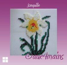 Daffodil hama perler by aux4mains
