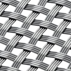 Banker Wire Mesh M44-7 is a simple over-and-under pattern using four independent wires sharing the same crimp pocket. Thin and strong, this new wire mesh creation has unlimited design potential for both interior or exterior applications. At 34 percent open area, this unique weave exhibits an interesting light and shadow pattern, making it a good choice for sunscreen applications.