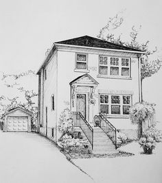 Building Sketch, Building Drawing, City Drawing, House Drawing, Pencil Art Drawings, Art Drawings Sketches, Hand Drawings, Architecture Concept Drawings, Perspective Art