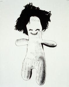 Mike Kelley Wayne, MI (US), 1954 - South Pasadena, CA (US), 2012 Figure II (Hair) 1989 Acrylic on paper, 100 x 80 cm Collection Sandra Alvarez de Toledo, Paris Photo: Courtesy Mike Kelley Foundation for the Arts