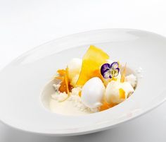 Coconut Panna Cotta with pineapple Cremeux mango glass coconut sorbet pineapple candy pop pineapple foam coconut streusel foto by @corinalanda #TagsForLikes #Bachour #bachourchocolate #bachourchocolatebook #bachoursimplybeautiful #chocolate #theartofplating #chefstalk #chefsofinstagram #gastroart #antoniobachour #bachour1234 by bachour1234