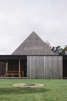 """archatlas: """"Forest House in AucklandForest House was completed this year by NZ-based Fearon Hay Architects. Set at the foot of the Waitakere Ranges is a collection of timber clad, gabled structures...."""
