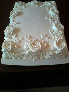 Wedding Sheet Cakes, Blush Wedding Cakes, Square Wedding Cakes, Square Cakes, Funeral Cake, Sheet Cakes Decorated, Sheet Cake Designs, Twin Birthday Cakes, Cake Shapes