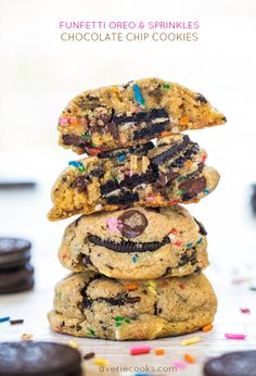 Funfetti Oreo & Sprinkles Chocolate Chip Cookies