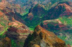 Waimea Canyon, Kauai (Hawaii) by Linda Cochran Waimea Canyon, Vietnam, Kauai Hawaii, Hawaii Usa, Hawaii Travel, China, Science Nature, The Great Outdoors, Nature