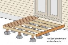Good instructions on building a floating deck Backyard Projects, Outdoor Projects, Home Projects, Outdoor Spaces, Outdoor Living, Outdoor Decor, Deck Design, House Design, Diy Deck