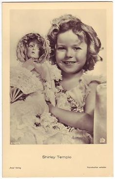Shirley Temple with boudoir doll