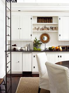 Bright idea! Clad with a paneled-wood front, an ice machine blends right in.