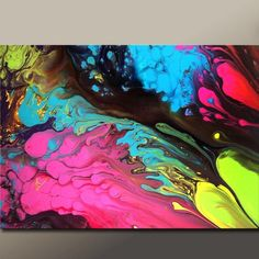 Abstract  Fine Art Print  Huge 30x20 Contemporary by wostudios, $60.00-- I wonder if that is alcohol ink?