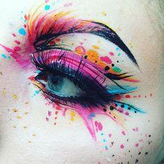 WEBSTA @ saramariarosenkilde - Closeup! Because I can't wait to upload this till tomorrow #impatient . Recreation of one of @milk1422 facecharts Products used: @maccosmetics Full Coverage Foundation 'NC15' and Chromacakes in every colour@makeupstore Microshadow 'Beaver' @morphebrushes 35B Palette @jeffreestarcosmetics Liquid Lipstick 'Prom Night' @falahalymakeup Black Eyeliner @eldorafalseeyelashes 'h168' #makeup #recreation #inspired #milk1422 #artist #creative #art #cute #pink #f...