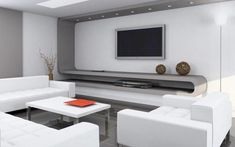 High-Tech Style Living room design ideas