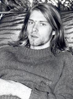 Kurt Cobain, backstage at the U4 club in Vienna, Austria. November 22, 1989