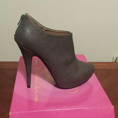 SHOES STONE COLOR BOOT SHOES 5' HEELS DELICIOUS SHOES  Shoes Ankle Boots & Booties