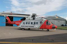 Irish Coastguard service launched their new search & rescue Sikorsky helicopter on the July replacing the Sikorsky ICG operate a SAR facility at Shannon Airport Coast Guard Rescue, Us Coast Guard, Air Fire, Fire Fighters, Search And Rescue, Emergency Vehicles, Jet Ski, Aviation Art, Military Aircraft