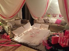 the Ultimate Slumber Party/Fort #slumberparty #bacheloretteparty #victoriassecrettheme