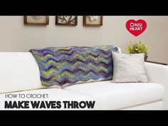 Learn How to Crochet the Make Waves Throw Pattern by Red Heart Yarns