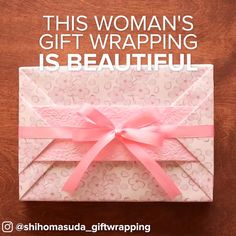 Japanese Gift Wrapping Is Beautiful #holiday #wrapping #creative #simple