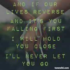 Lyric Art of Never Let Me Go by We Came as Romans