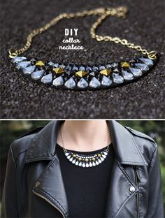 diy embellished necklaces | The Lovely Drawer