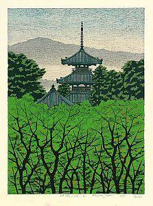 fumio fujita | By Fumio Fujita - Pagoda at Ikaruga, 1985