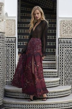 Kilim Maxi Skirt by The Jetset Diaries- buy now at www.amihanlife.com