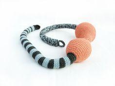 Crochet necklace  The boa friend by bibatron on Etsy, $62.00