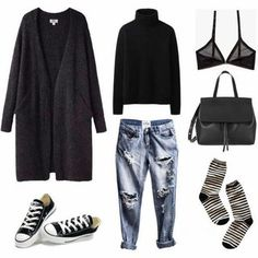 A fashion look from March 2015 featuring Uniqlo sweaters, Cheap Monday bras and . Ein Mode-Look vo Milan Fashion Weeks, Paris Fashion, Runway Fashion, Fashion Models, Winter Fashion, Womens Fashion, Fashion Trends, Teen Fashion, Fashion Tips