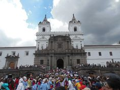 """"""" UNESCO declared Quito a World Heritage Site in 1978 for its colonial architecture """" Colonial Architecture, Quito, World Heritage Sites, San Francisco Ferry, Ecuador, Notre Dame, Building, Pictures, Travel"""