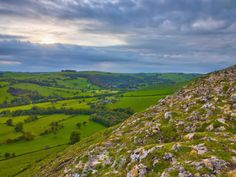 River Manifold Valley Near Ilam from Thorpe Cloud, Peak District ...