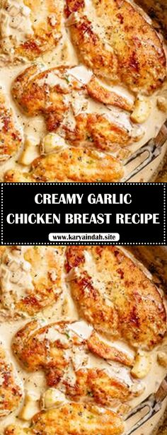 Creamy Garlic Chicken Breast Recipe Lightly floured boneless chicken breasts are pan fried in until golden and crispy before being added to a mouth-watering garlic cream sauce! Filled with caramelized flavour, you will LOVE how easy this is. Creamy Garlic Chicken, Chicken Parmesan Recipes, Easy Chicken Recipes, Baked Chicken Breastrecipes, Creamy Chicken Breast Recipes, Recipe Chicken, Easy Recipes, Garlic Recipes, Recipe For Boneless Chicken Breast