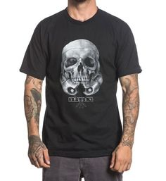New Fashion Mens Short Sleeve Tshirt Cotton T Shirts Sullen Rogue Skull Tee Black Tattoo Shirts, Tattoos, Tattoo Clothing, Star Wars Tattoo, Skull Shirts, Lifestyle Clothing, Short Sleeve Tee, Short Sleeves, Mens Tees
